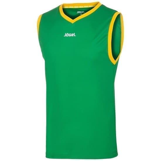 Jogel JBT-1020 Майка баскетбольная Зеленый/Желтый - фото 142045