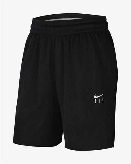 Nike DRI-FIT SWOOSH FLY Шорты баскетбольные Черный/Белый - фото 142087