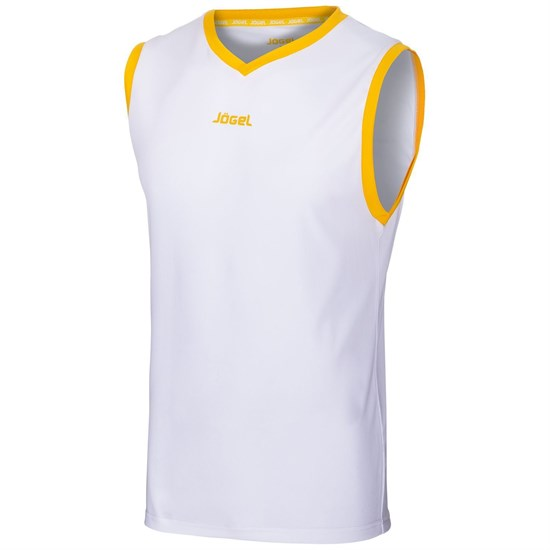 Jogel JBT-1020-K Майка баскетбольная детская Белый/Желтый - фото 142162