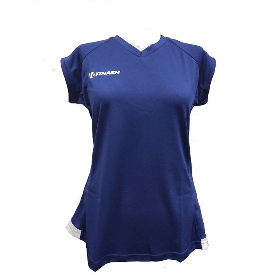 Kinash BARSA T-SHIRT Футболка волейбольная женская Темно-синий/Белый - фото 142318