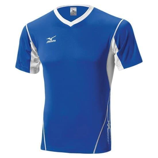 Mizuno PREMIUM TOP Футболка волейбольная Синий/Белый/Белый - фото 142674