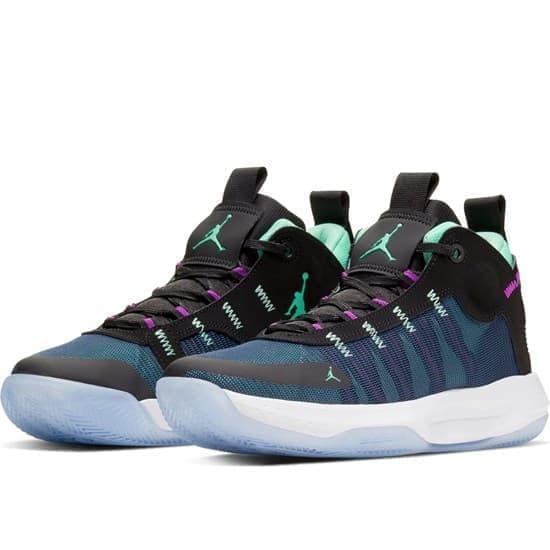Nike JORDAN JUMPMAN 2020 Кроссовки баскетбольные Черный/Голубой - фото 145069