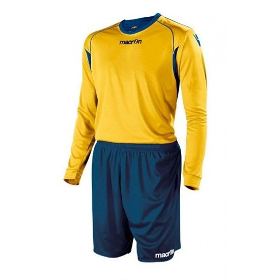Macron VESTA Форма футбольная Желтый/Темно-синий - фото 145653