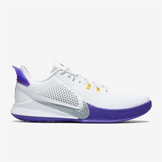 Nike MAMBA FURY Кроссовки баскетбольные Белый/Фиолетовый - фото 147894