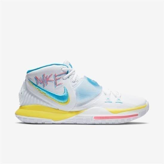 Nike KYRIE 6 Кроссовки баскетбольные Белый/Желтый - фото 147996