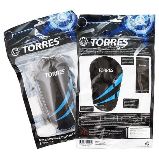 Torres PRO Щитки футбольные Черный/Синий - фото 149455