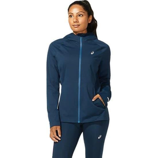 Asics WINTER ACCELERATE JACKET (W) Куртка беговая женская Темно-синий - фото 149586