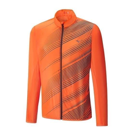 Mizuno PREMIUM AERO JACKET Куртка ветрозащитная Оранжевый/Темно-серый - фото 149808