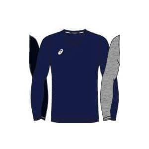 Asics MAN LONG SLEEVE TEE Футболка беговая с длинным рукавом Темно-синий/Белый - фото 151266