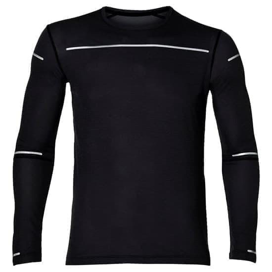 Asics LITE-SHOW LS TOP Футболка беговая с длинным рукавом Черный/Серый - фото 151787