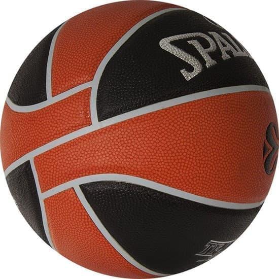 Spalding TF-1000 LEGACY EUROLEAGUE OFFICAL BALL Мяч баскетбольный Коричневый/Черный/Серебристый - фото 151873