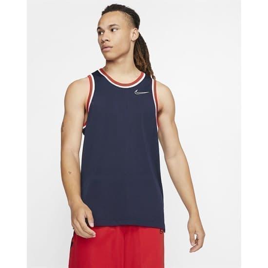 Nike DRI-FIT CLASSIC Майка баскетбольная Темно-синий/Белый - фото 152248