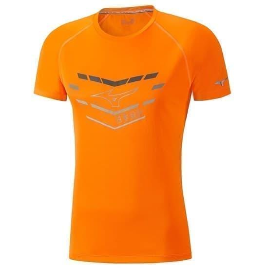 Mizuno CORE GRAPHIC TEE Футболка беговая Оранжевый - фото 152491