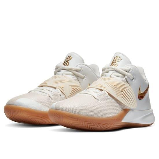 Nike KYRIE FLYTRAP III Кроссовки баскетбольные Белый/Золотой - фото 152994