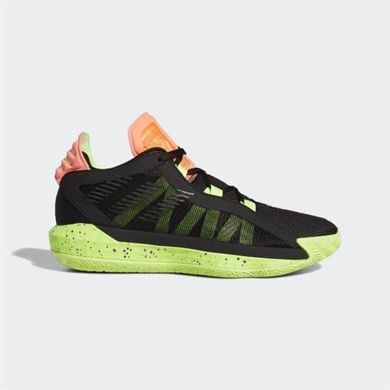Adidas DAME 6 Кроссовки баскетбольные Черный/Салатовый - фото 153111