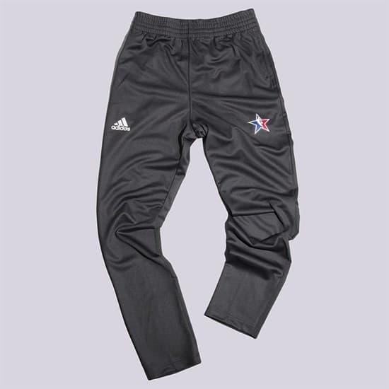 Adidas AS PANT Брюки беговые Черный/Белый - фото 153161