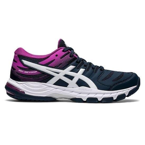 Asics GEL-BEYOND 6 (W) Кроссовки волейбольные женские Темно-синий/Розовый - фото 154324