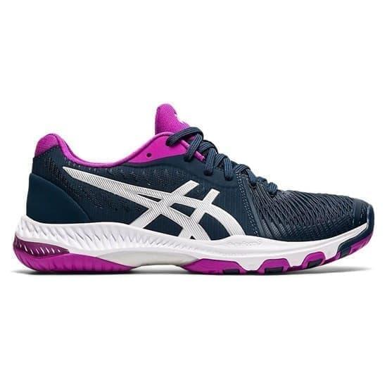 Asics NETBURNER BALLISTIC FF 2 (W) Кроссовки волейбольные женские Темно-синий/Розовый - фото 154410