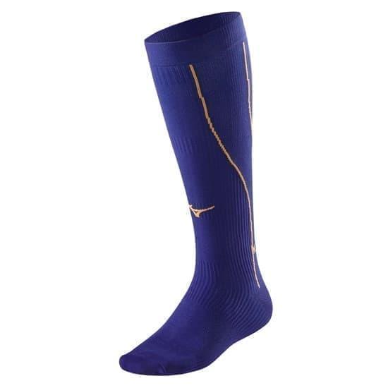 Mizuno COMPRESSION SOCK Носки компрессионные Фиолетовый/Оранжевый - фото 155057