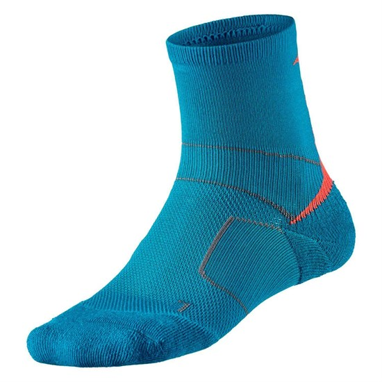 Mizuno ENDURA TRAIL SOCKS Носки компрессионные Голубой/Оранжевый - фото 155091