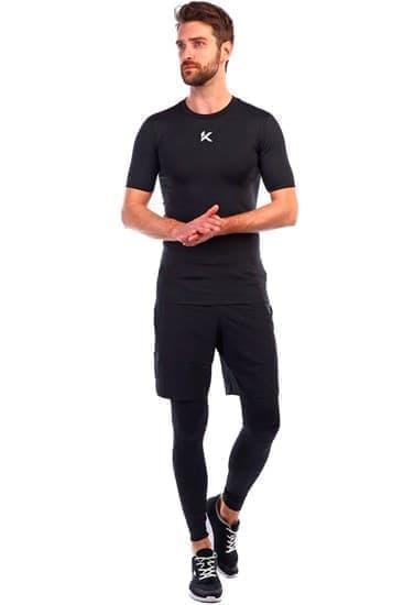 Anta BASKETBALL KT Компрессионная футболка Черный/Белый - фото 155485