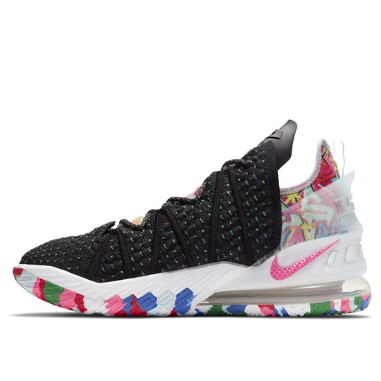 Nike LEBRON XVIII Кроссовки баскетболные Черный/Розовый - фото 155677