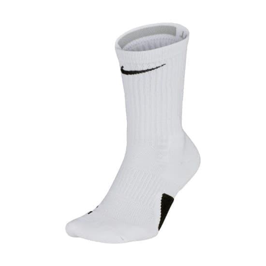 Nike ELITE CREW Носки баскетбольные Белый/Черный - фото 158394