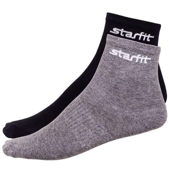 Starfit SW-206 Носки средние (2 пары) Черный/Серый - фото 158498