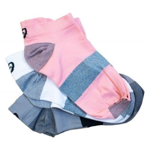 Asics 3PPK LYTE SOCK Носки беговые низкие (3 пары) Белый/Розовый - фото 158624