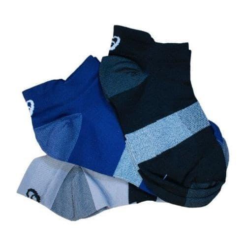 Asics 3PPK LYTE SOCK Носки беговые низкие (3 пары) Серый/Темно-синий - фото 158625