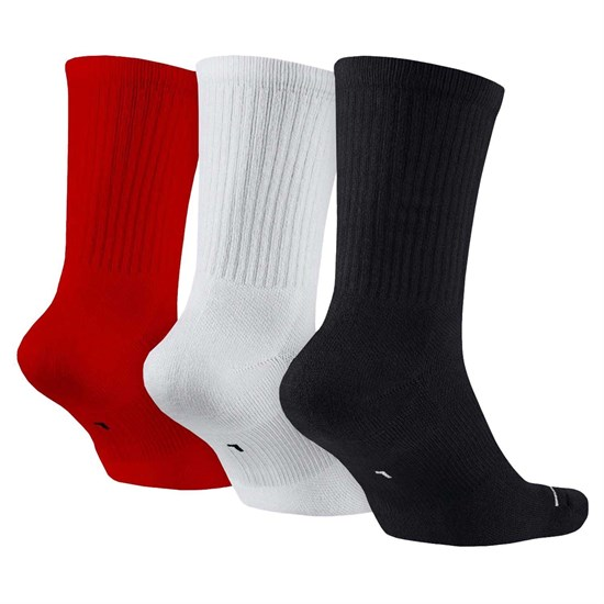 Nike EVERYDAY MAX CREW 3PR Носки Черный/Белый/Красный - фото 158649