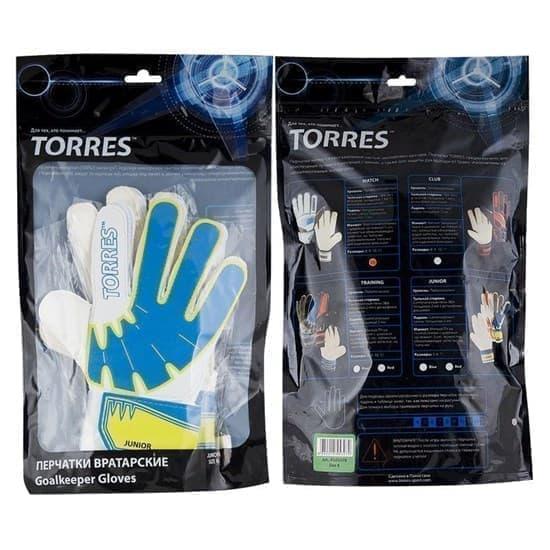 Torres JR Перчатки вратарские Белый/Синий/Желтый - фото 158725