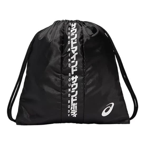 Asics KATAKANA DRAWSTRING BAG Мешок для обуви Черный/Белый - фото 158738