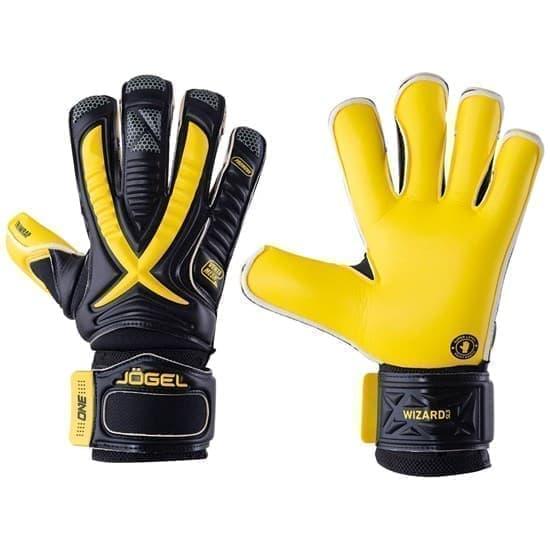 Jogel ONE WIZARD SL3 ROLL-HYBRID Перчатки вратарские Черный/Желтый - фото 158786