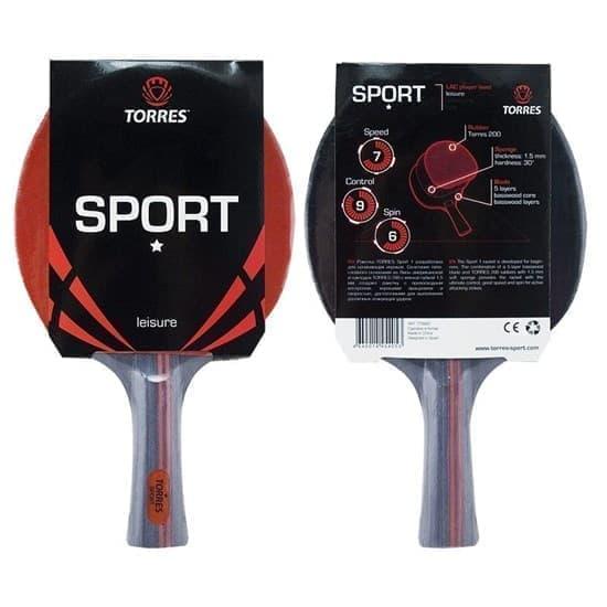 Torres SPORT 1* Ракетка для настольного тенниса - фото 158921
