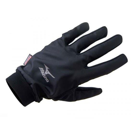Mizuno WIND GUARD GLOVE Перчатки беговые Черный/Серебистый - фото 159016