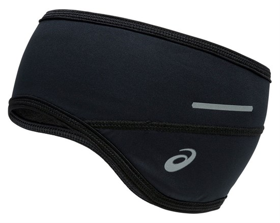 Asics LITE-SHOW EAR COVER Повязка на голову Черный/Серый - фото 159123