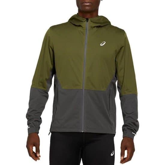 Asics WINTER ACCELERATE JACKET Куртка беговая утепленная муж бег Зеленый/Серый - фото 159173
