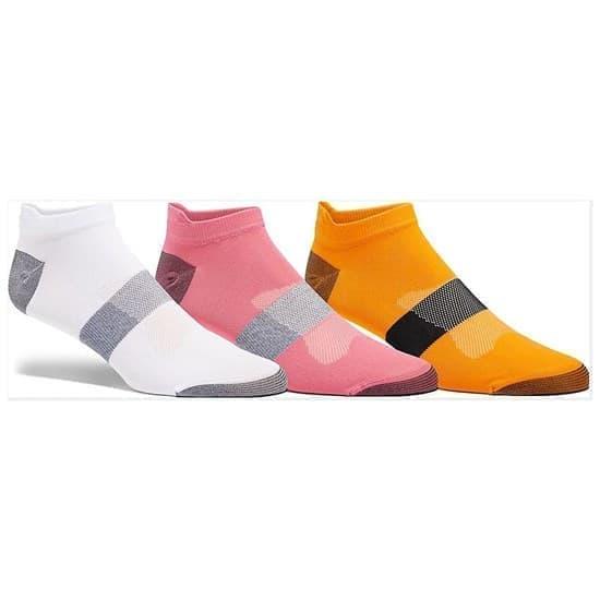 Asics 3PPK LYTE SOCK Носки беговые низкие (3 пары) Белый/Розовый/Оранжевый - фото 159198