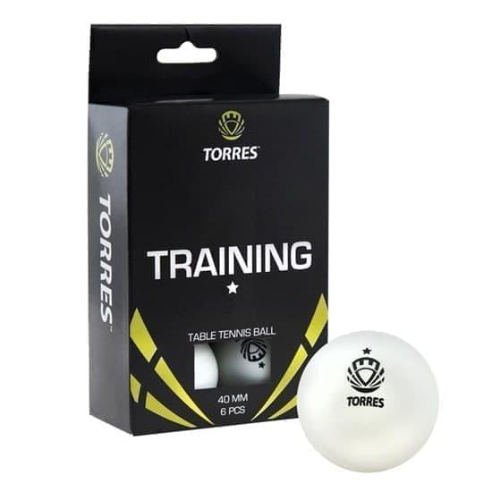 Torres TRAINING 1* (TT0016) Мячи для настольного тенниса Белый - фото 159262