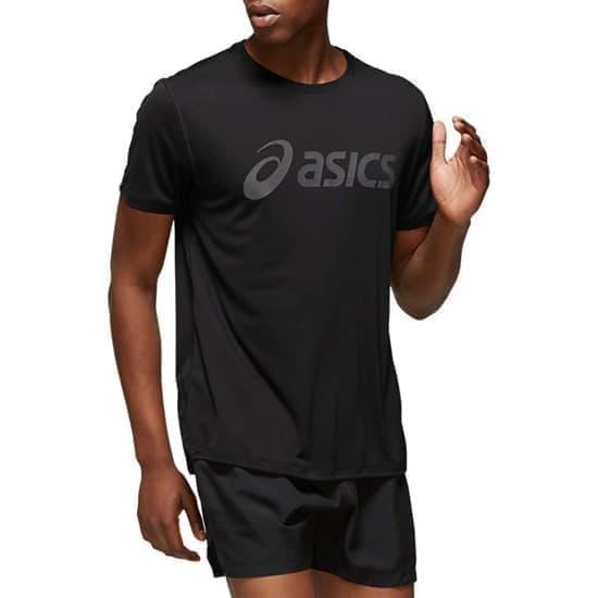 Asics SILVER ASICS TOP Футболка беговая Черный/Серый - фото 159269