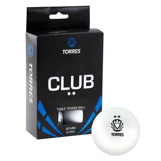 Torres CLUB 2* (TT0014) Мячи для настольного тенниса - фото 159270