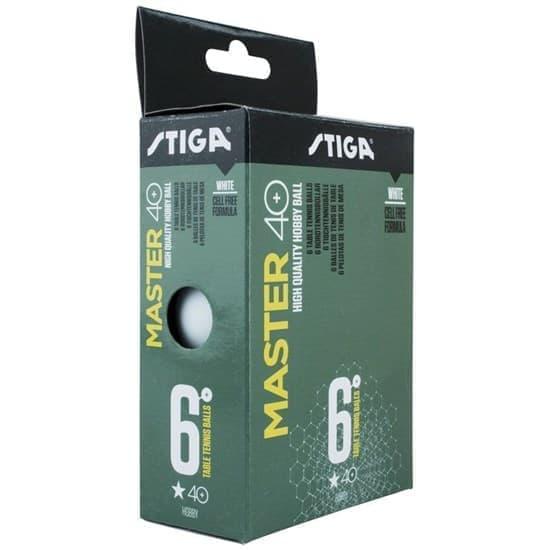 Stiga MASTER ABS 1* Мячи для настольного тенниса (6 шт) Белый - фото 159306