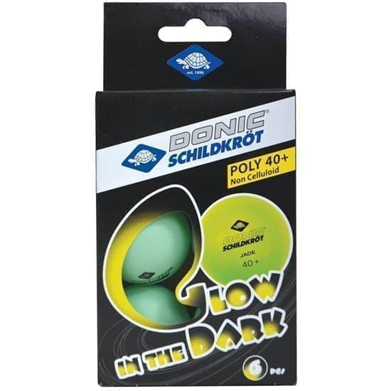 Donic SCHILDKROET GLOW IN THE DARK Мячи для настольного тенниса (6 шт) - фото 159331