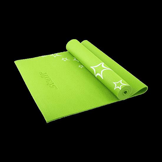 Starfit FM-102 Коврик для йоги 0,6см фитнес зелен/бел - фото 159445