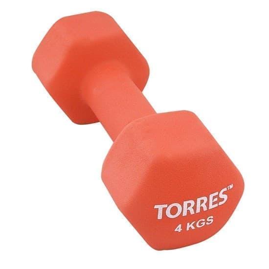 Torres PL55014 Гантель 4 кг - фото 159720