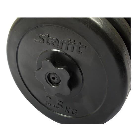 Starfit DB-701 15,5 КГ Гантель разборная пластиковая - фото 159780