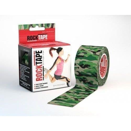 RockTape DESIGN 5смх5м камуфляж зелёный Кинезиотейп Зеленый/Серый - фото 159895