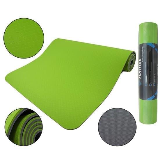 Torres COMFORT 6 Коврик для йоги Зеленый/Серый - фото 160057
