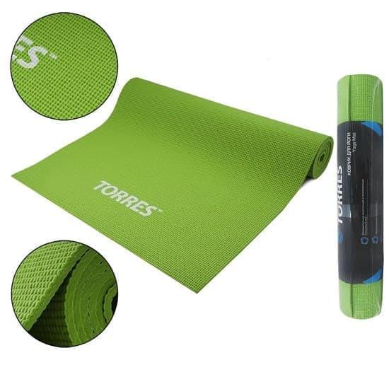 Torres OPTIMA 6 Коврик для йоги Зеленый/Серый - фото 160060